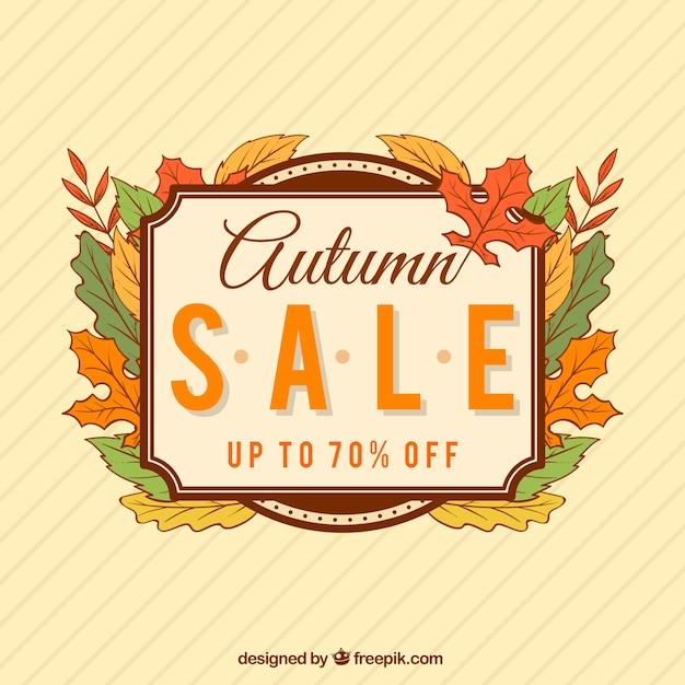 Vintage autumn sale background