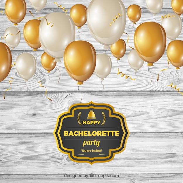Vintage bachelorette party invitation Free Vector