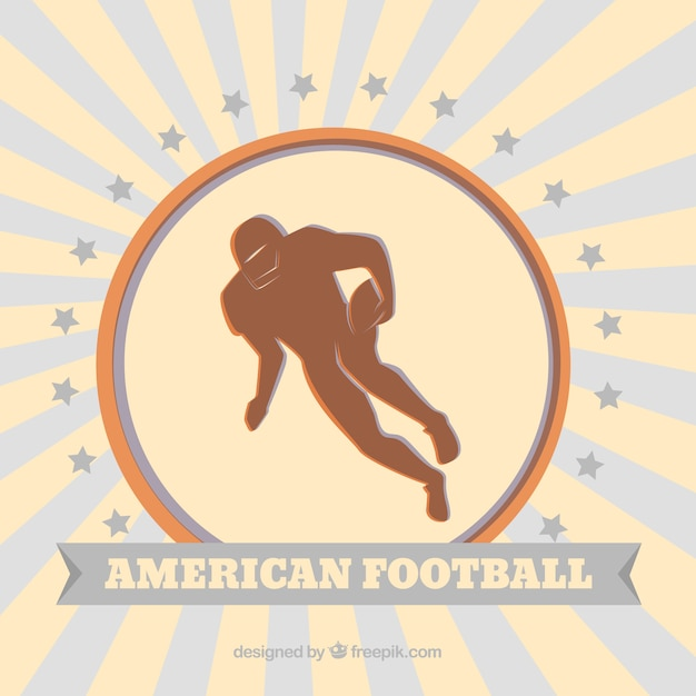 Vintage background of american football\ player