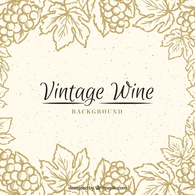 Vintage background with a floral frame Free Vector