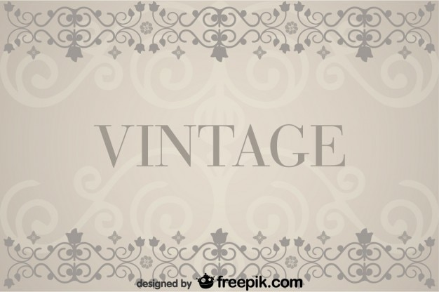 Vintage background with floral retro decorations vector for Decoration usine vintage
