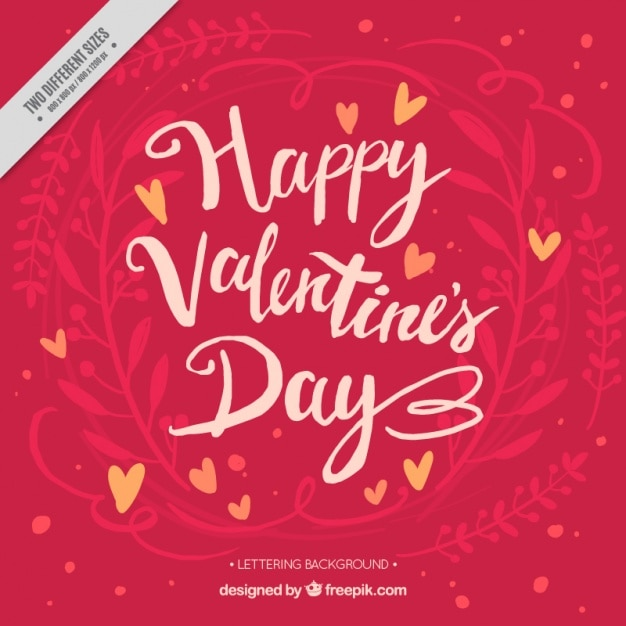 Vintage Background With Happy Valentine S Day Message Vector Free