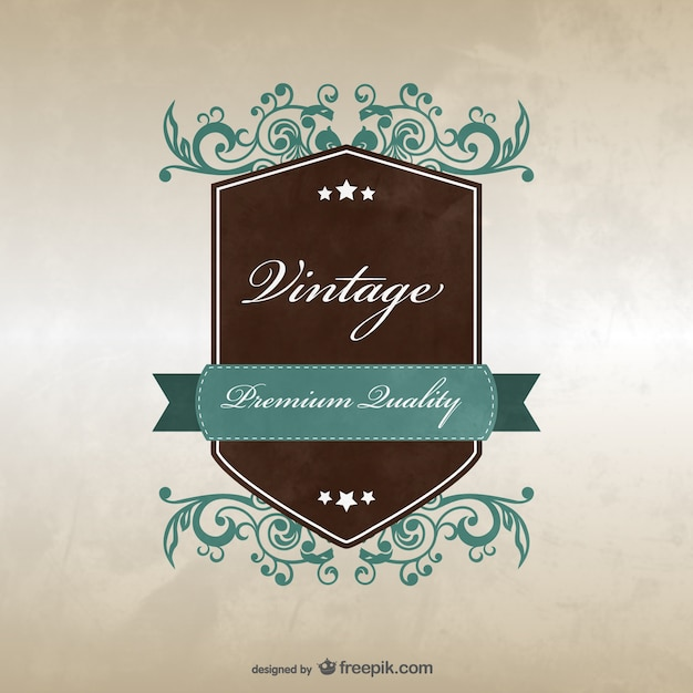 Vintage Badge Template Design Vector Free Download