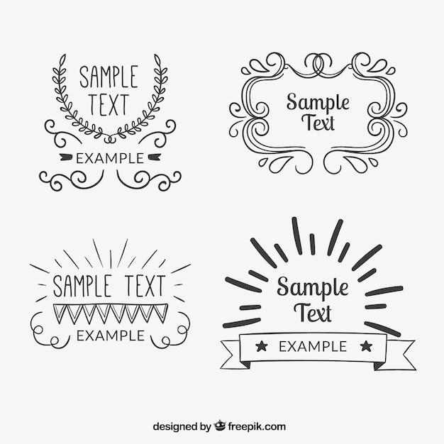 Vintage badges collection Free Vector