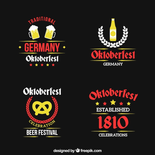 Vintage badges for oktoberfest celebration