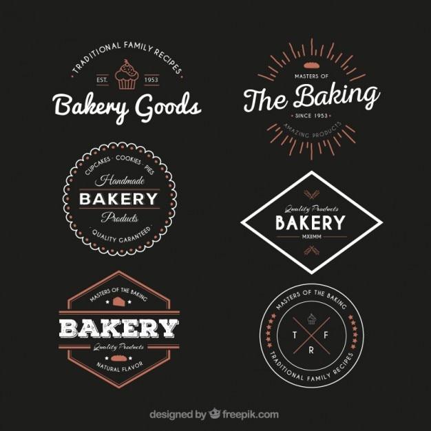Vintage Bakery Logos Badge