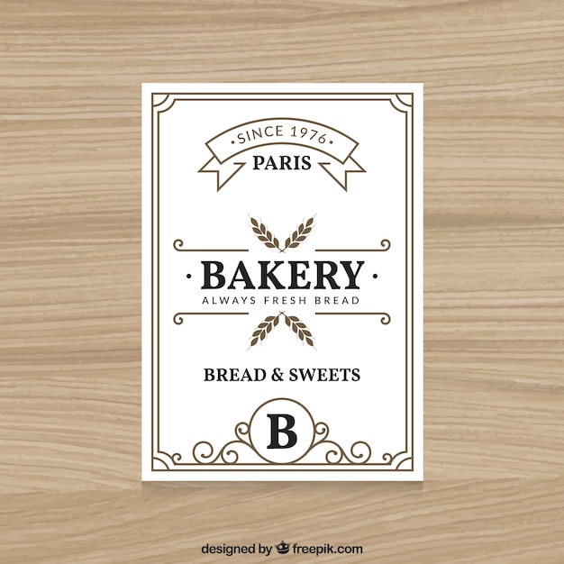 Vintage Bakery Flyer Template Vector Free Download - Bakery brochure template free