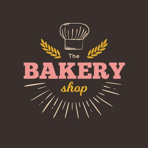 Vintage bakery logo Free Vector