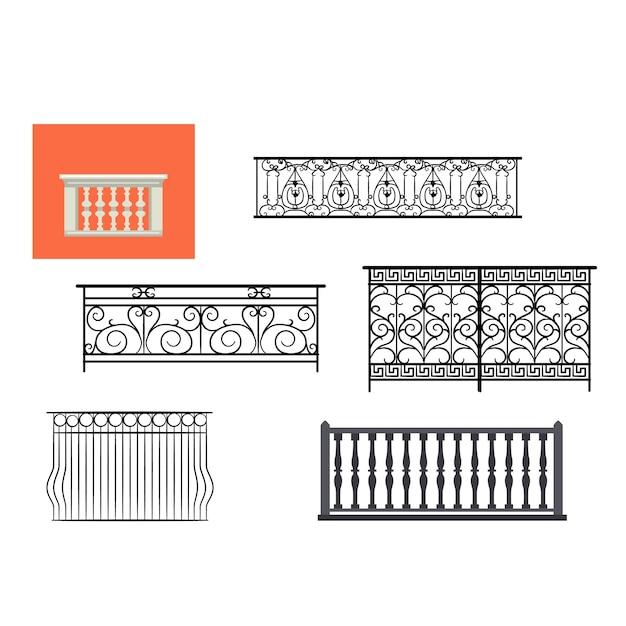 Vintage balcony railing Premium Vector