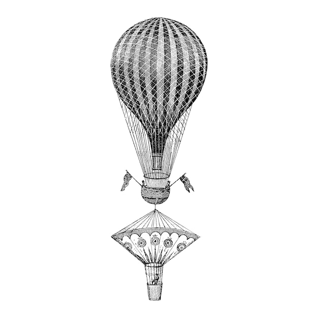 Vintage balloon illustration Free Vector
