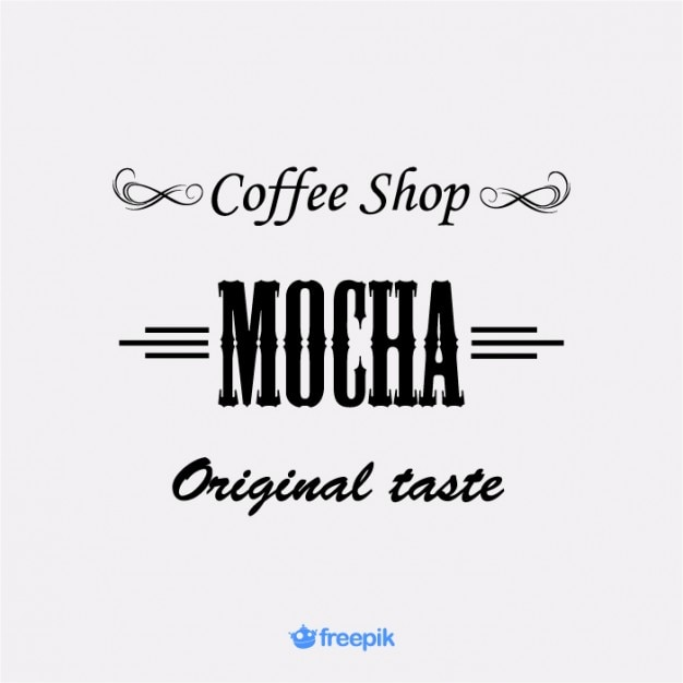 Vintage Banner Coffee shop Free Vector
