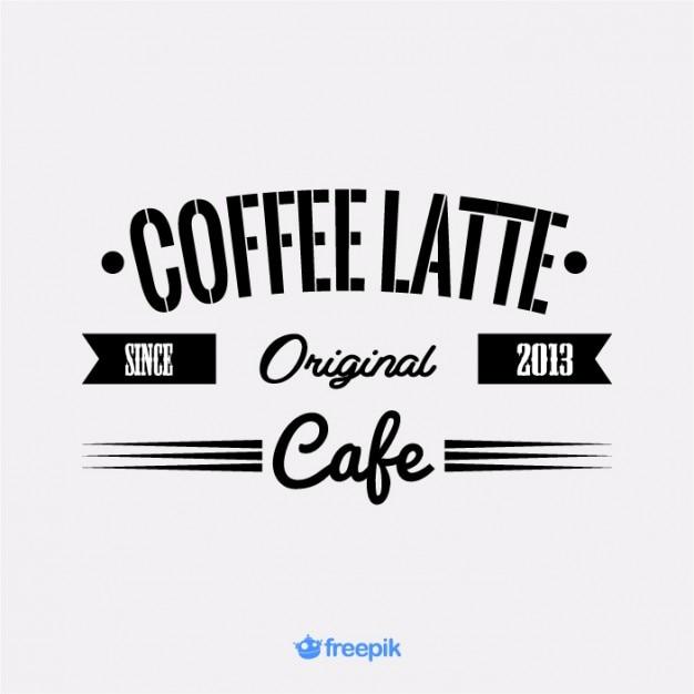 vintage banner of latte vector | free download