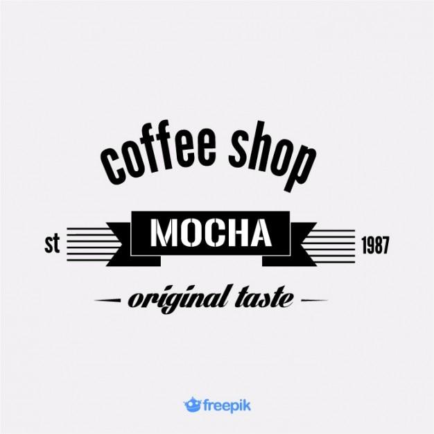 Vintage Banner on Mocha coffee shop Free Vector