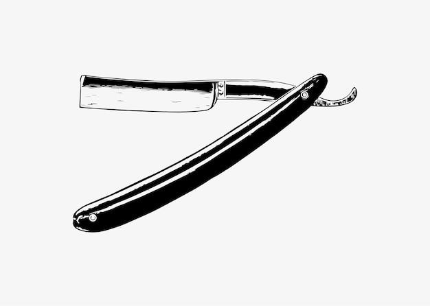 Vintage barber razor Free Vector