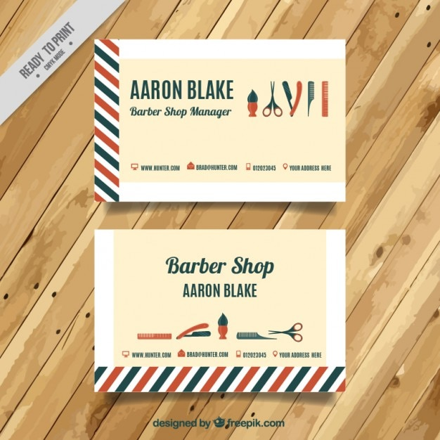 Vintage barber shop card