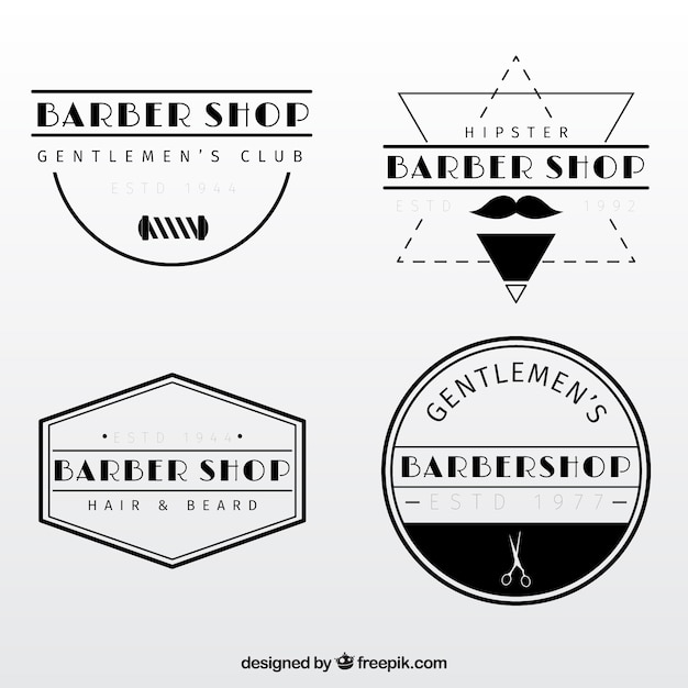 vintage barber shop logo templates vector | premium download