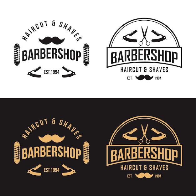 ビンテージの理髪店のロゴベクトルテンプレート Premiumベクター