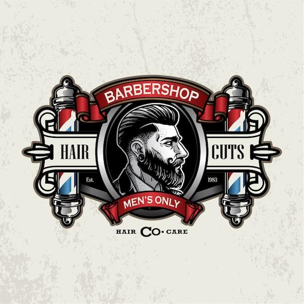 Vintage barbershop logo