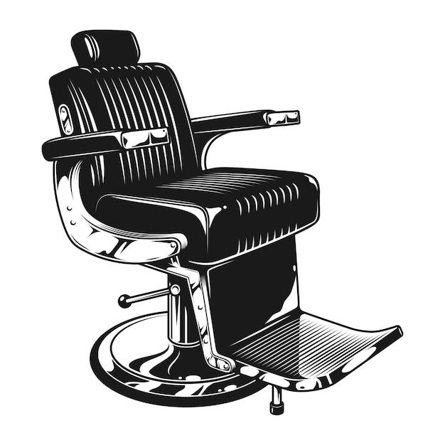 ヴィンテージ理髪店のモダンな椅子のテンプレート 無料ベクター