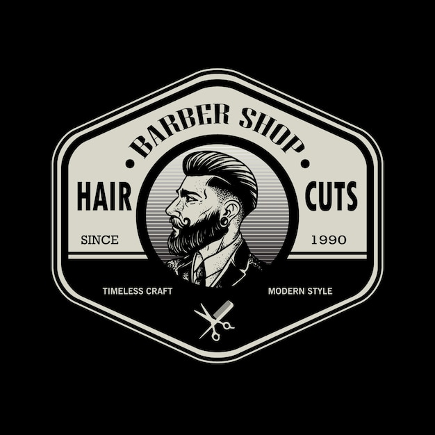 scissor patch barber patch hairstylist patch