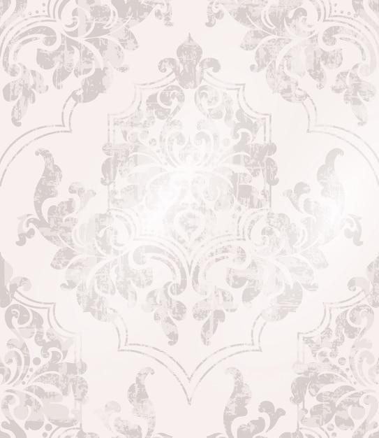 Vintage baroque ornamented background Premium Vector