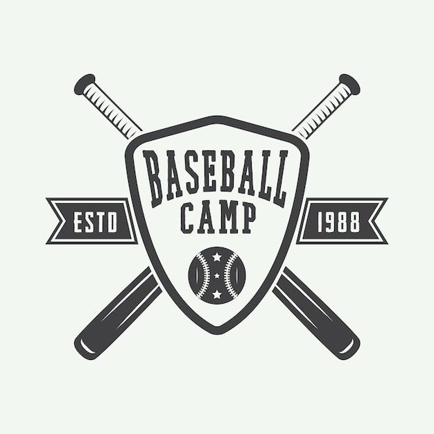 Vintage baseball logo Premium Vector