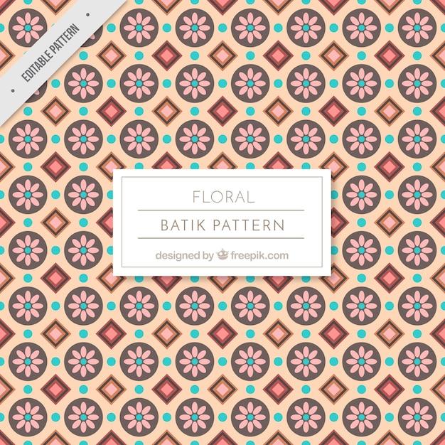 Vintage Batik Floral Pattern Vector