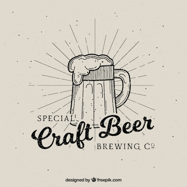 Vintage beer backgrpund Free Vector
