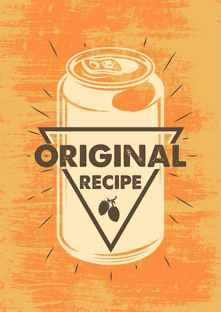 Poster di birra vintage Vettore gratuito