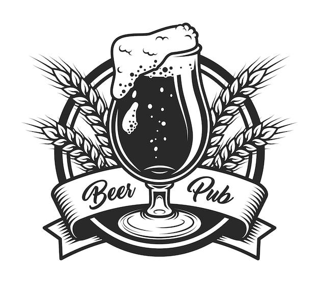 Modello di etichetta pub birra vintage Vettore gratuito
