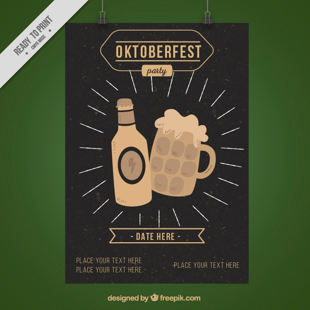 Vintage beers brochure for the oktoberfest festival
