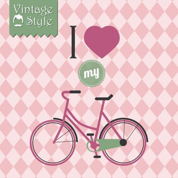 Vintage bicycle background design