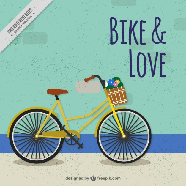 Vintage bicycle background