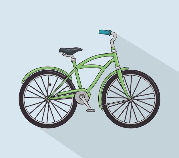 Vintage bicycle isolated icon design Premium Vector