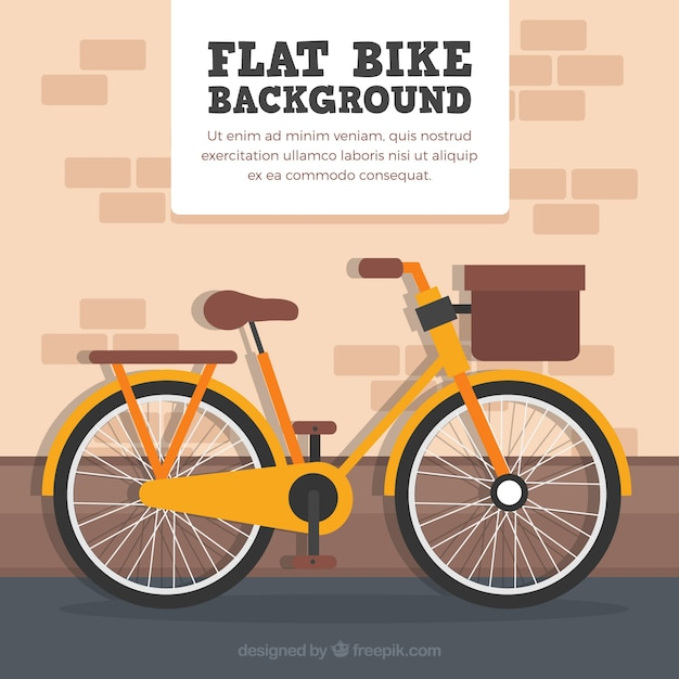 Vintage bicycle with flat design