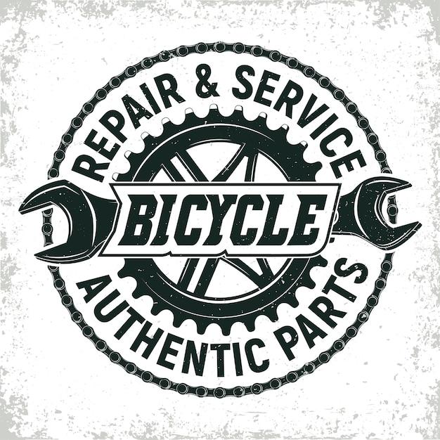 Дизайн логотипа мастерской по ремонту старинных велосипедов Premium векторы