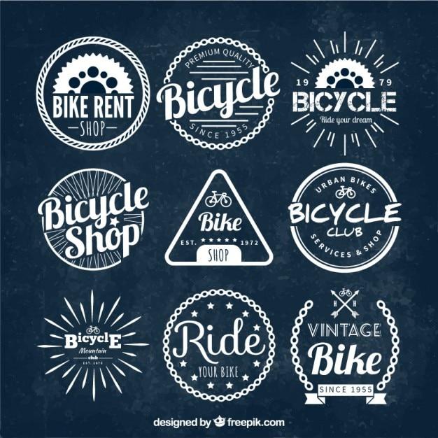Vintage bike badges Vector   Free Download