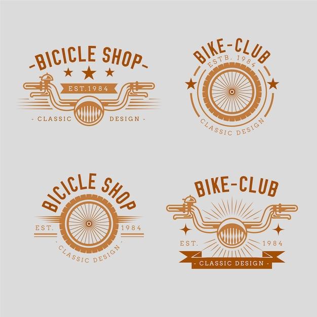 Коллекция винтажных велосипедов Бесплатные векторы
