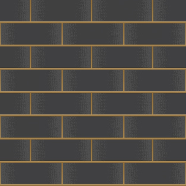 Vintage black brick wall background Premium Vector