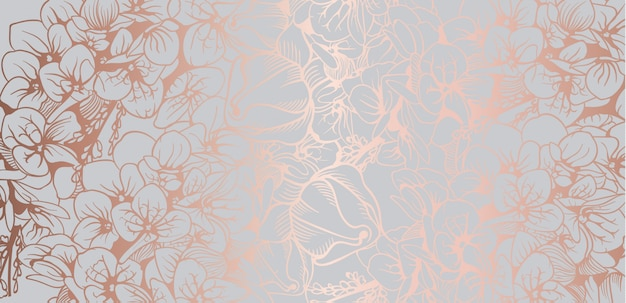 Vintage boho flowers background Premium Vector