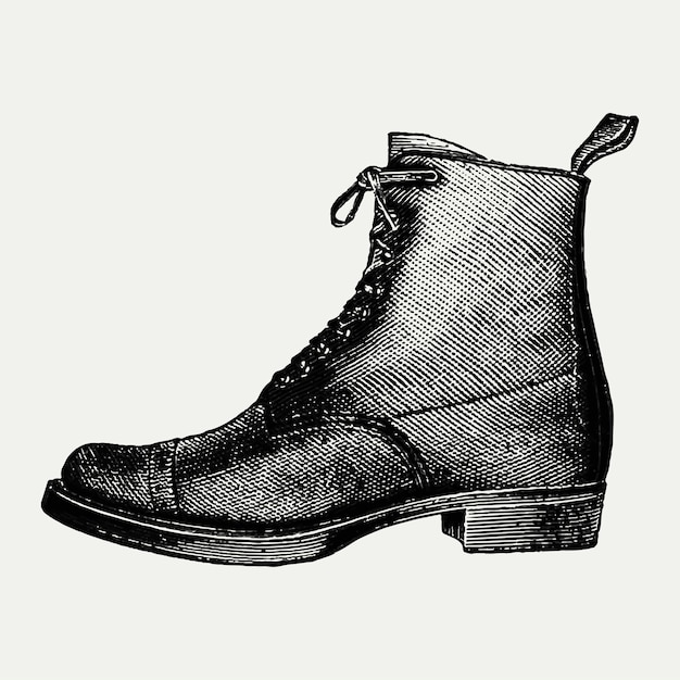 Vintage boot illustration Free Vector