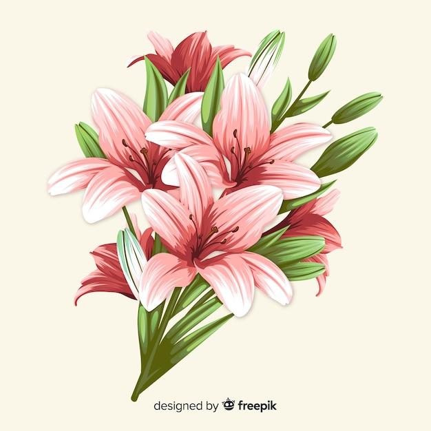 Vintage botanical flower bouquet Free Vector
