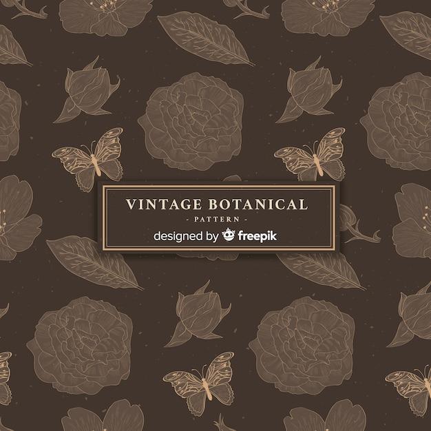 Vintage botanical pattern Free Vector