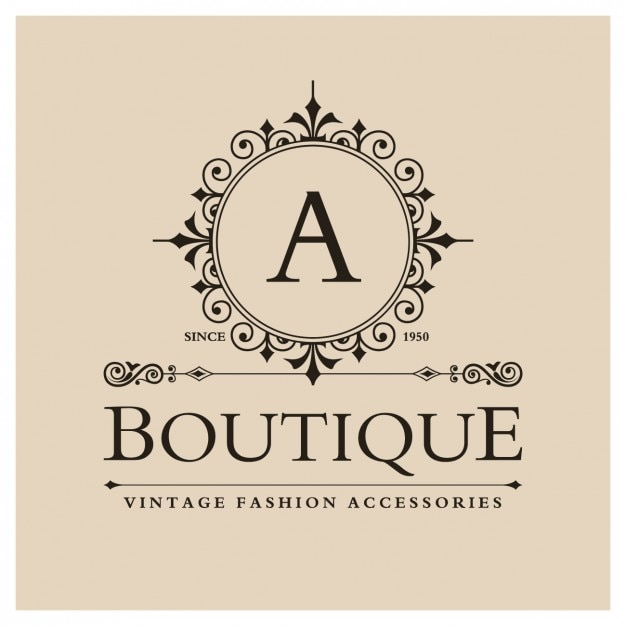 Vintage Boutique Logo Free Vector