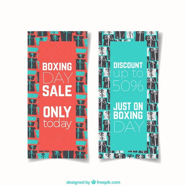 Vintage boxing day sale banner