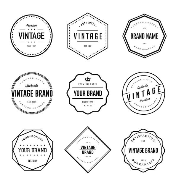 Vintage Brand Label Set Premium Vector