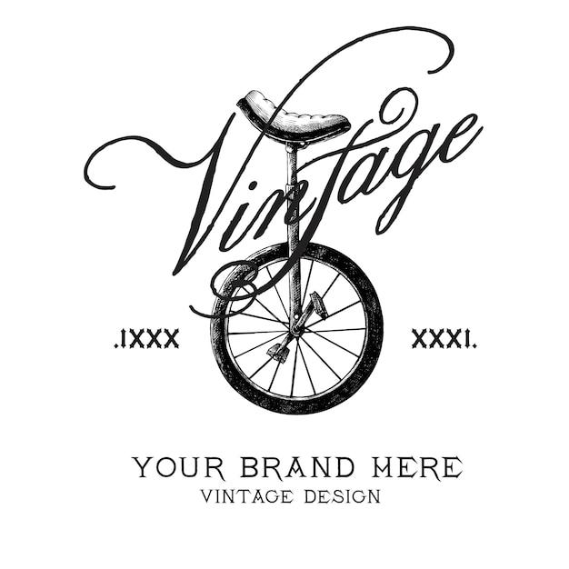 Vintage brand logo design vector Free Vector