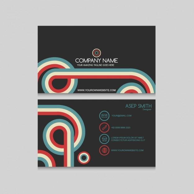 Vintage business card design vector free download vintage business card design free vector reheart Images