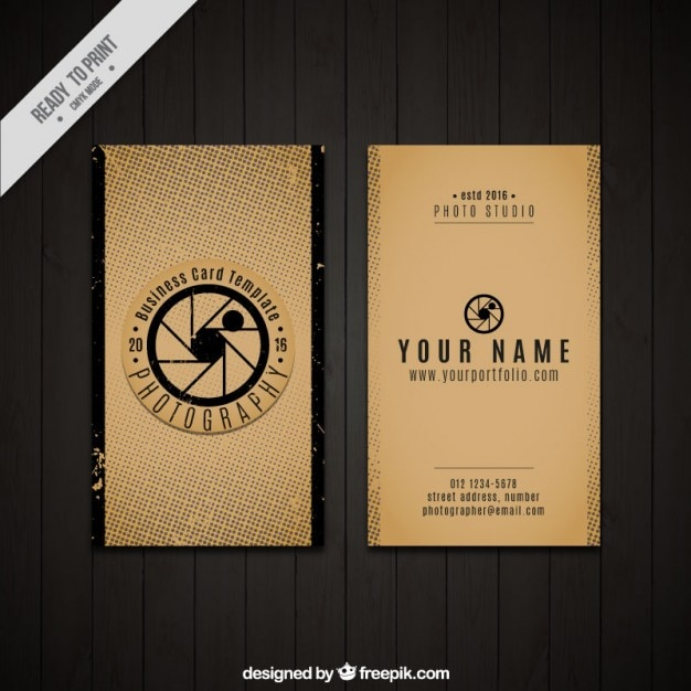Vintage business card of photography vector free download vintage business card of photography free vector reheart Choice Image