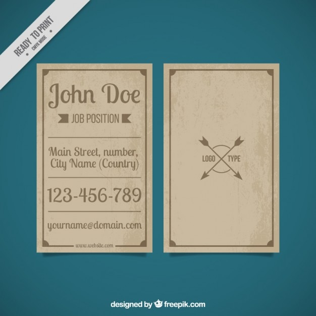 Vintage business card template vector free download vintage business card template free vector accmission Image collections